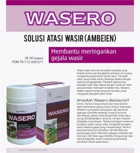 brosur wasero kapsul herbal atasi wasir (ambeien)