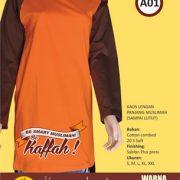 kaos-muslimah-a01-coklat-orange
